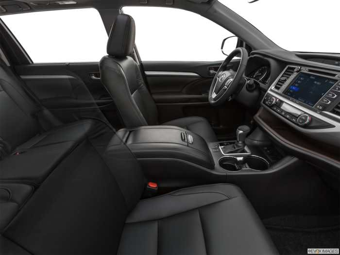 2019 Toyota Highlander Interior Pictures